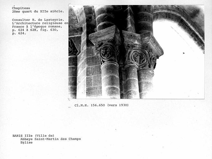 Chapiteaux du déambulatoire de l'église