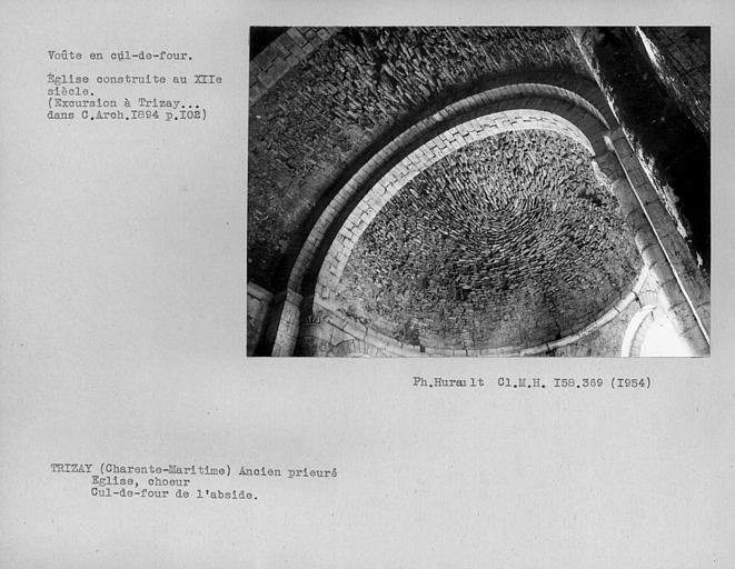 Voûte en cul-de-four de l'abside principale
