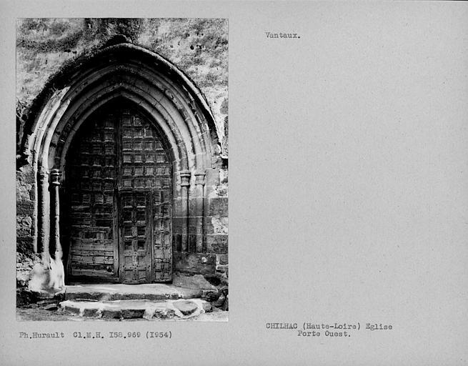 Face des vantaux de la porte ouest