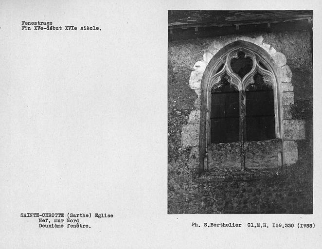 Fenestrage de la nef, deuxième fenêtre du mur nord