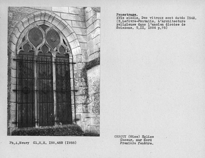 Fenestrage du choeur, première fenêtre du mur nord