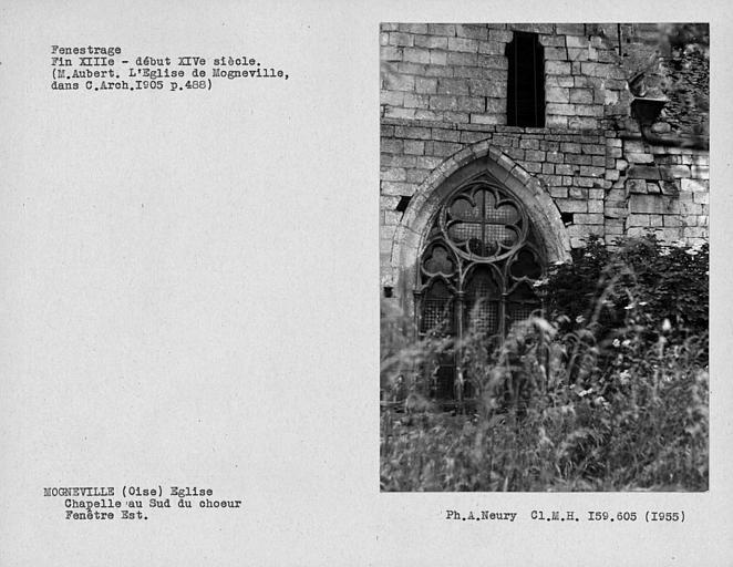 Fenestrage est de la chapelle au sud du choeur