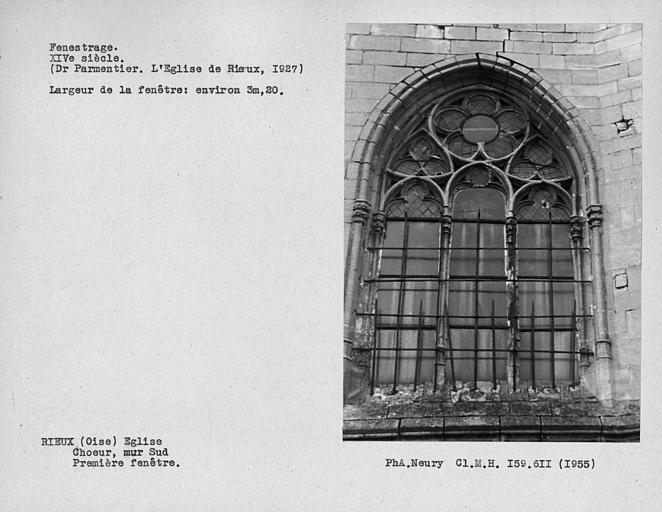 Fenestrage sud du choeur, première fenêtre