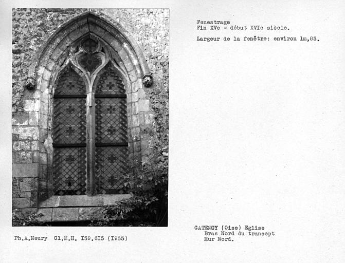 Fenestrages du bras nord du transept