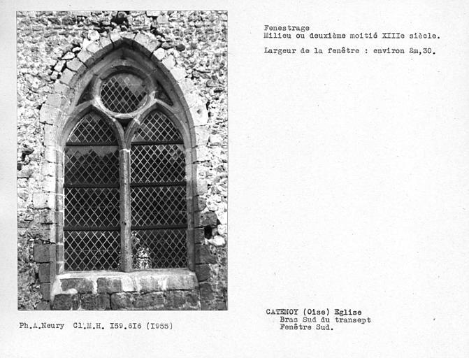 Fenestrage sud du bras nord du transept