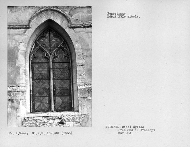 Fenestrage du mur sud du bras sud du transept