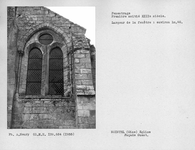 Fenestrage de la façade ouest de la nef
