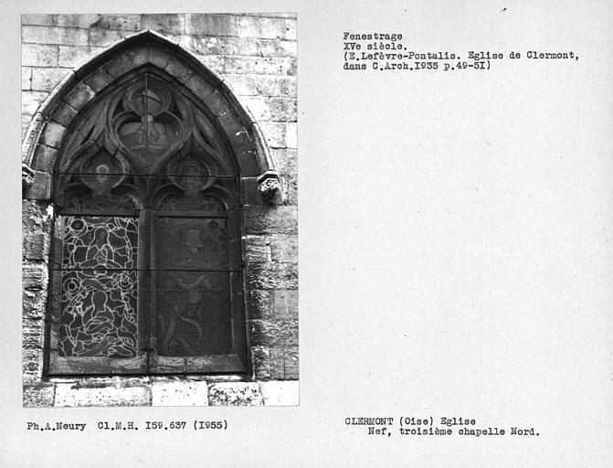 Fenestrage de la troisième chapelle nord de la nef