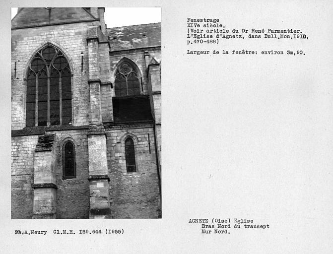 Fenestrage nord du bras nord du transept