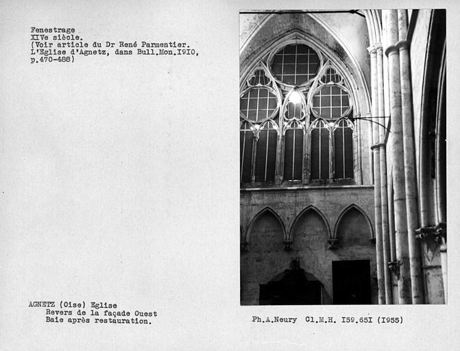 Fenêtre ouest de la nef