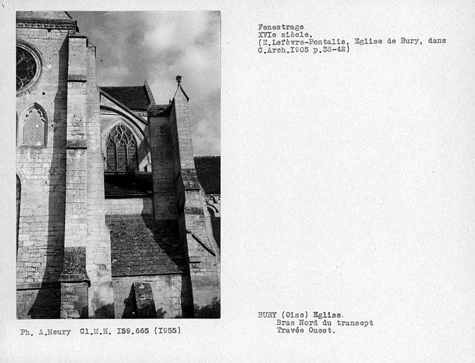 Fenestrage de la travée ouest du bras nord du transept