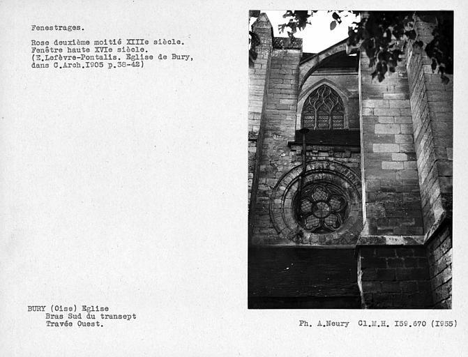 Fenestrages de la travée ouest du bras sud du transept