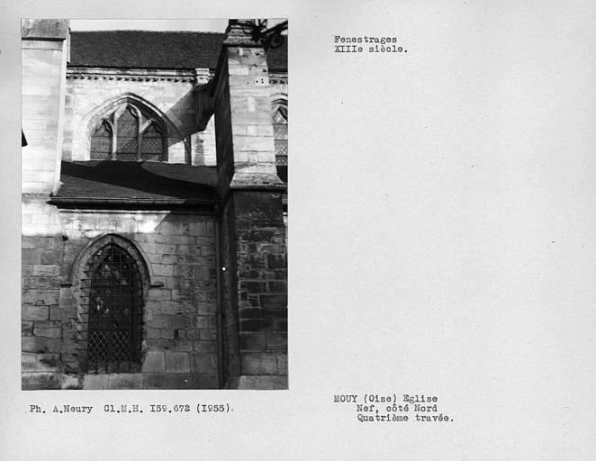 Fenestrages de la quatrième travée de la nef, côté nord