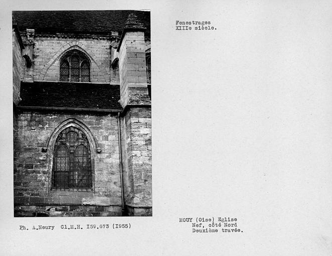 Fenestrages de la deuxième travée de la nef, côté sud