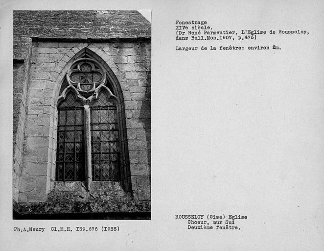 Fenestrage sud du cheour, deuxième fenêtre de la dernière travée du mur sud