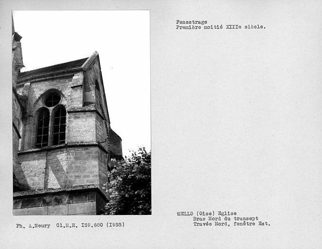 Fenestrage est de la travée nord, bras nord du transept