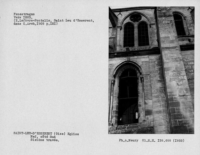 Fenestrages de la nef, côté sud, sixième travée