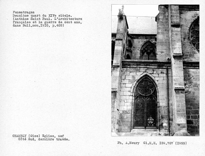 Fenestrages de la dernière travée sud de la nef