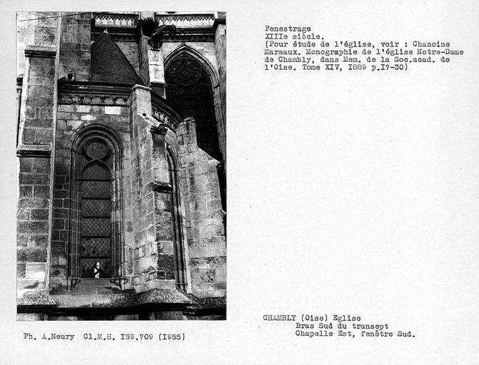 Fenestrage sud de la chapelle est sur le bras sud du transept