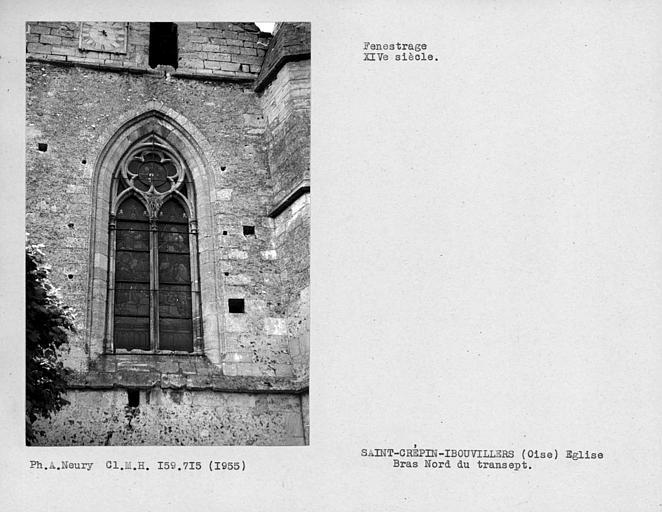 Fenestrage du bras nord du transept