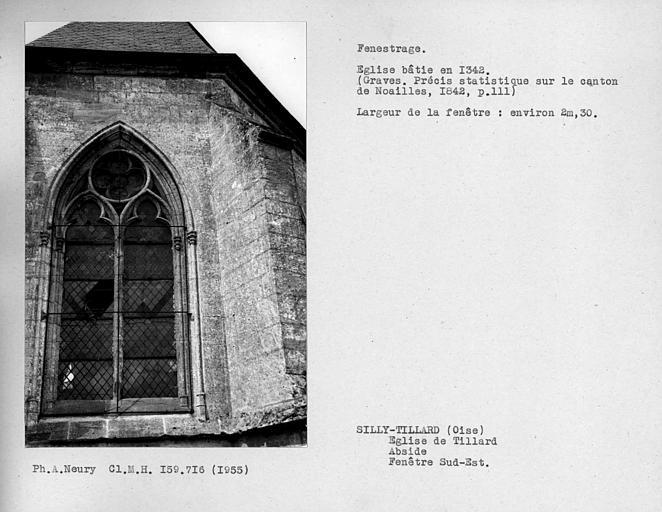 Fenestrage sud-est de l'abside