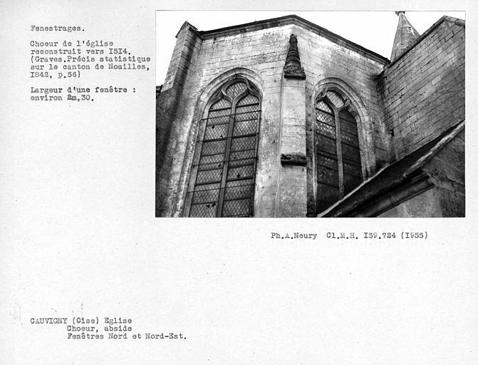 Fenestrages nord et nord-est de l'abside