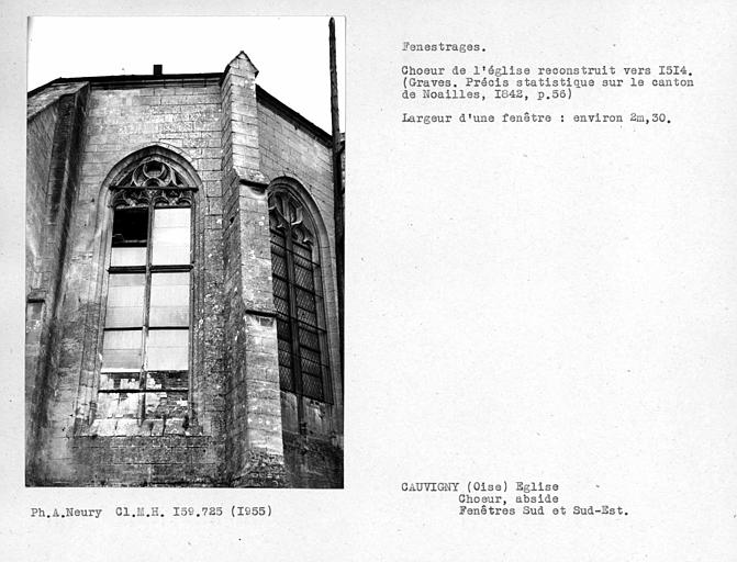 Fenêtres sud et sud-est de l'abside,