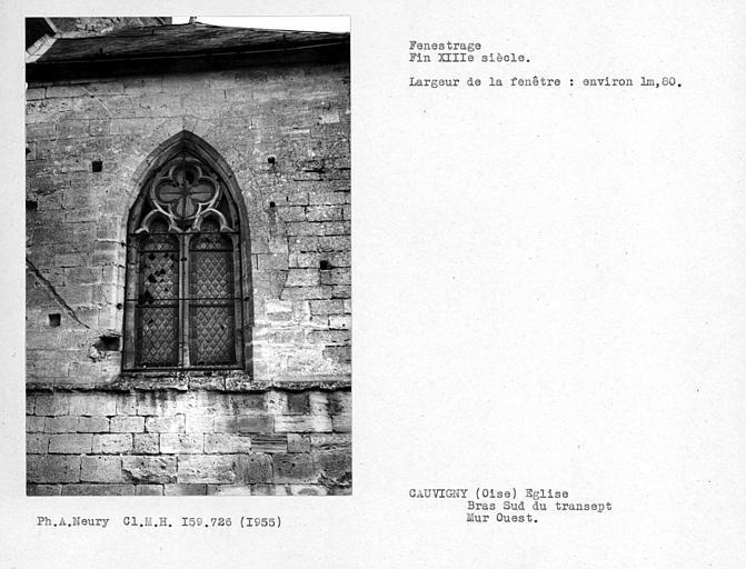 Fenestrage ouest du bras sud du transept