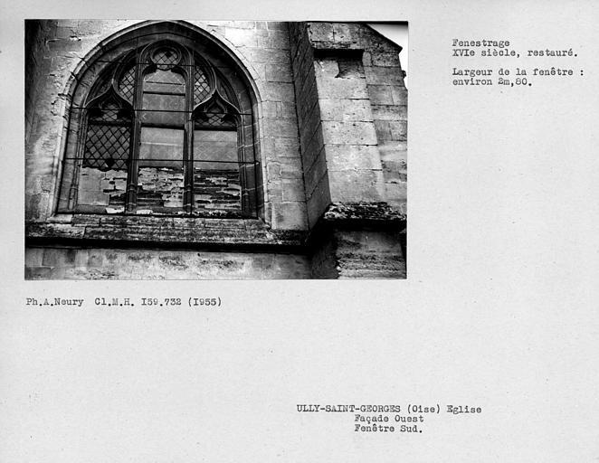 Fenestrage sud restauré de la façade ouest