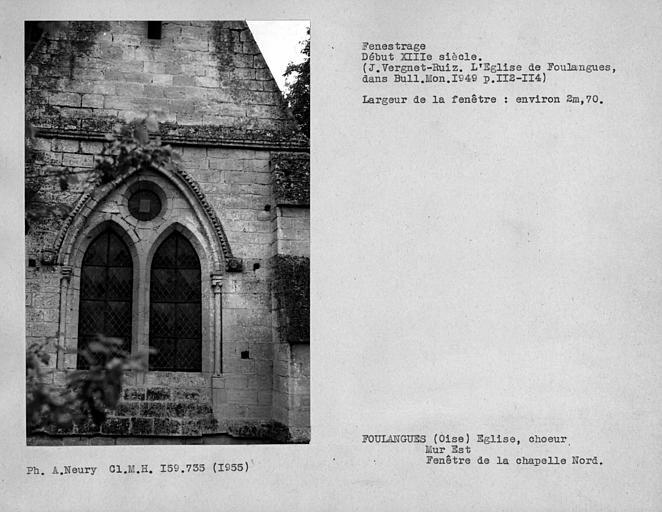 Fenestrage est de la chapelle nord