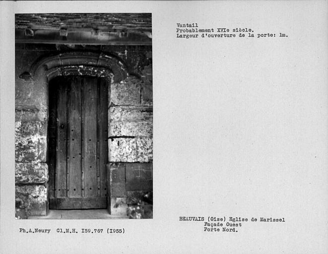 Vantail de la porte sud de la façade ouest