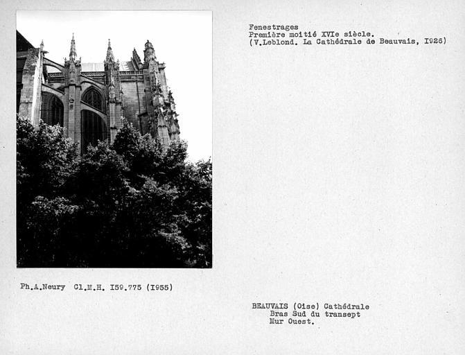 Fenestrages ouest du bras sud du transept