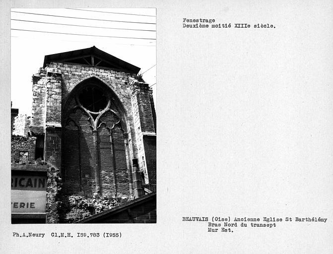 Fenestrage est du bras nord du transept