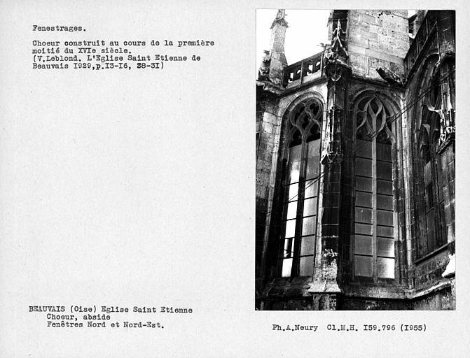 Fenestrages nord et nord-est de l'abside du choeur