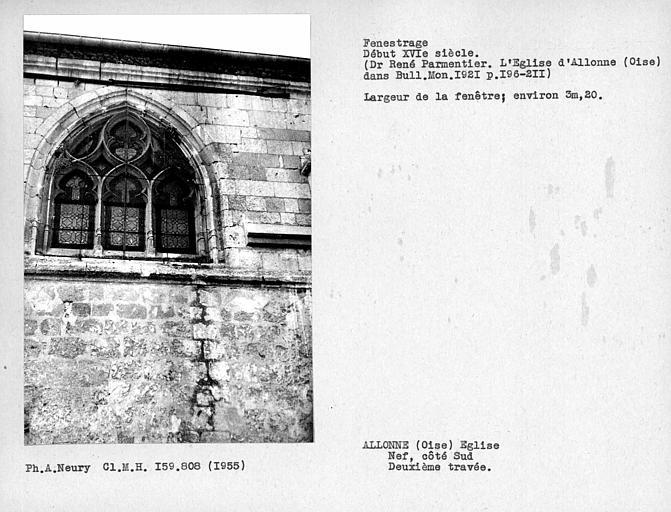 Fenestrage de la deuxième travée côté sud de la nef