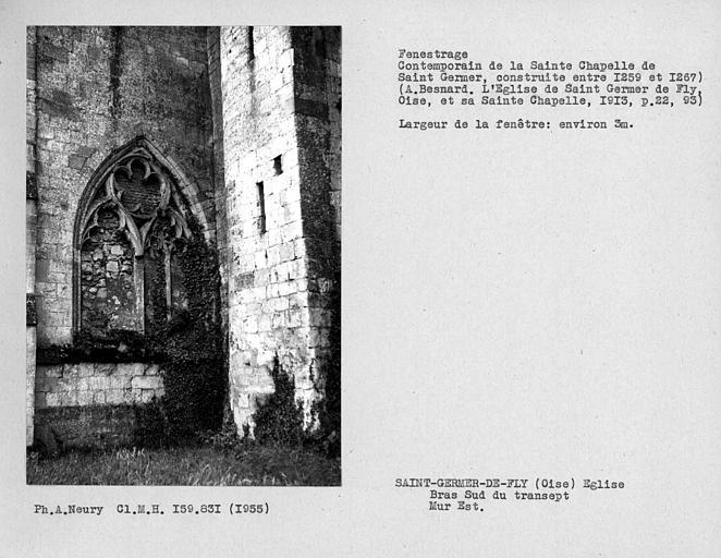 Fenestrage est du bras sud du transept, quatrième fenêtre