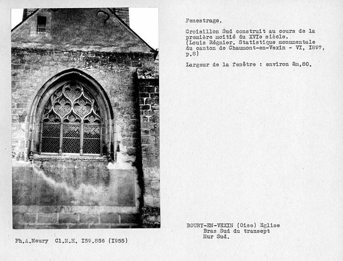 Fenestrage sud du bras sud du transept