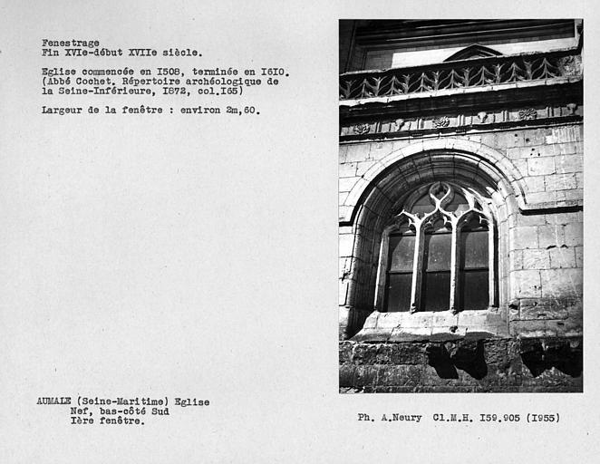 Fenestrage du bas-côté sud de la nef, première fenêtre