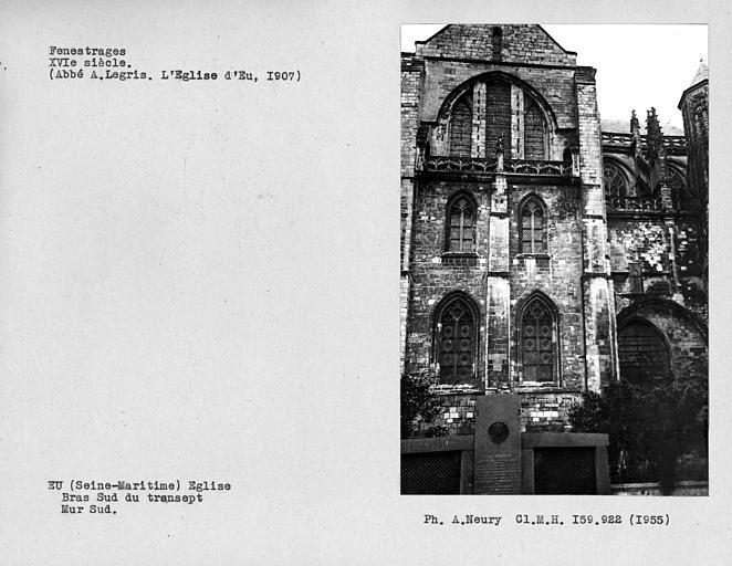 Fenestrages sud du bras sud du transept