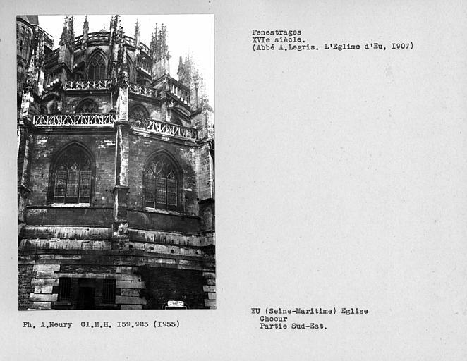 Fenestrages du choeur, partie sud-est de l'abside