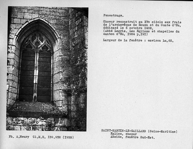 Fenestrage du choeur, fenêtre sud-est de l'abside