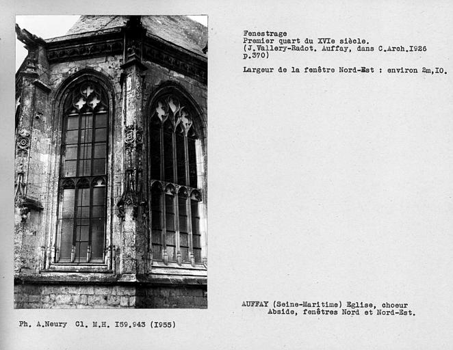 Fenestrage nord-est de l'abside du choeur