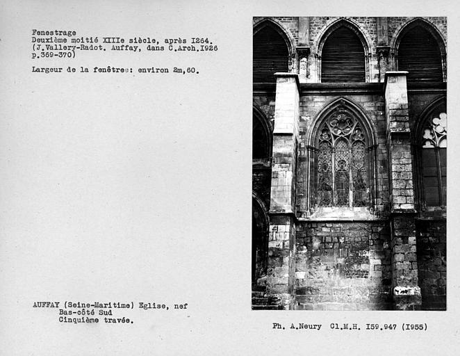 Fenestrage du bas-côté sud de la nef, quatrième fenêtre, cinquième travée