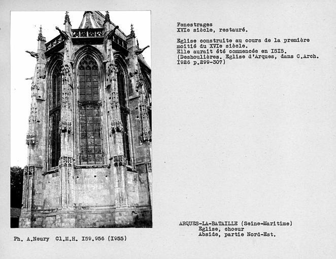 Fenestrages restaurés, partie nord-est de l'abside
