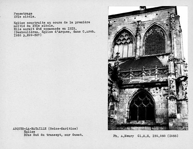 Fenestrage du bras sud du transept, mur ouest