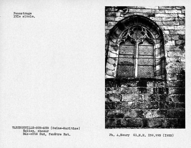 Fenestrage est du bas-côté sud du choeur, fenêtre est