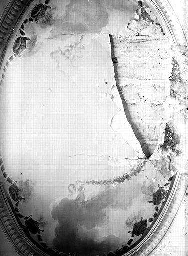 Rez-de-chaussée, grand salon Doré, boudoir ovale : plafond peint