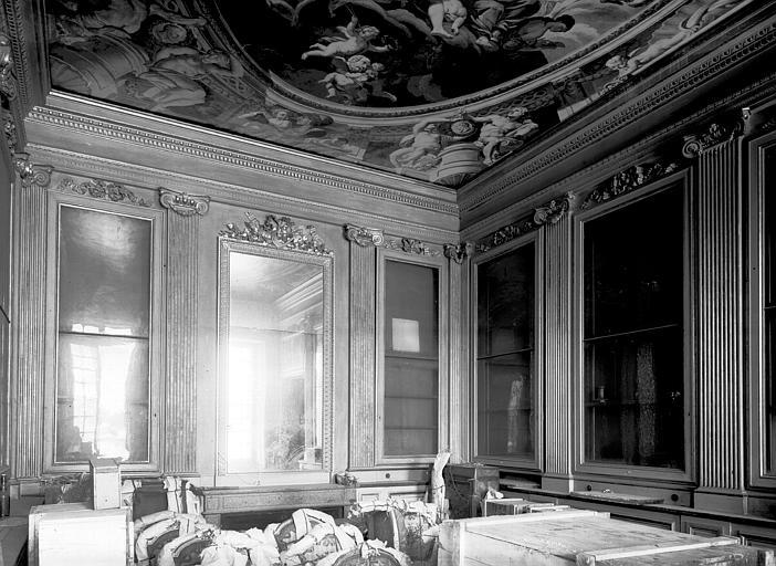 Premier étage, salon Doré : ensemble, époque Louis XVI