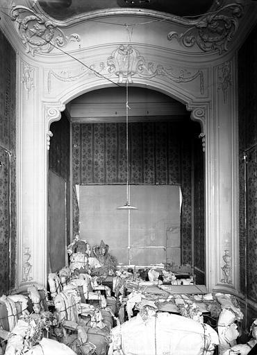 Premier étage, salon Doré : boudoir à alcôve, plâtre, époque Louis XVI