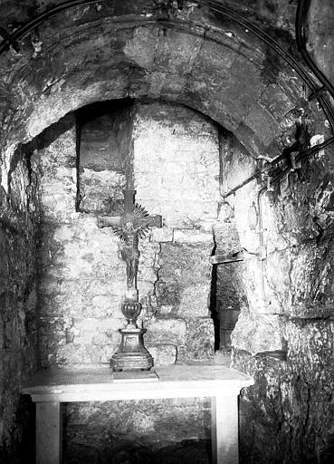 Eglise inférieure, collatéral sud : niche